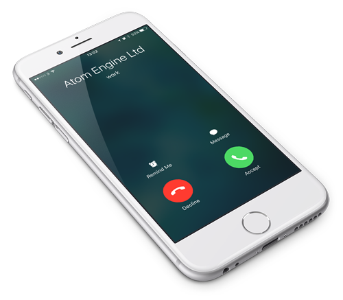iPhone with Atom Engine caller ID